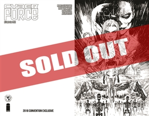 Cyber Force #1 (2018) B&W Cover