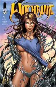 WITCHBLADE #1, 25TH ANNIVERSARY EDITION, TOP COW STORE/KRS VARIANT